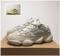 Wholesale boxed blush - Wholesale Boost Desert Rat 500 Blush Super Moon Yellow Running Shoes Authentic Sports Sneakers DB2908 For Men Women Top With Original Box
