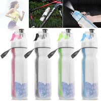 Wholesale gym water bottles for sale - Group buy Mist Spray Water Bottle Ice Cold Drinking Squeeze Bottle ML Portable Outdoor Sports Gym Bottles OOA5276