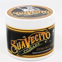 Wholesale hair waxing tools online - Hot selling Suavecito Pomade Back Hair Oil Wax Mud Best Hair Wax Very Strong Hold Hair Gel Style Tools Firme Hold