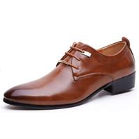 spitzschuh formal großhandel-Mode Männer Kleid Spitz Vintage Marke Business Männliche Formale Kleid Schuhe HH-341