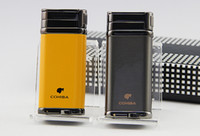cohiba sigaraları toptan satış-COHIBA Sigara Puro Çakmak 1 Torch Jet Alev Sigara Puro Puro Punch ile Çakmak Cep Çakmaklar