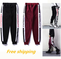 Wholesale Fashion Foot Wear - Autumn and Winter Europe Hip-hop Loose Pants Metrosexual Haren Pants Feet White Stripes Trousers MEN fashion loose wear