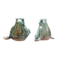 Wholesale living rooms ceramic decoration for sale - Group buy Pastoral Creative Home Furnishing Modern New Home Living Room Animal Decoration Wine Garden Courtyard Decoration Ceramic Frog