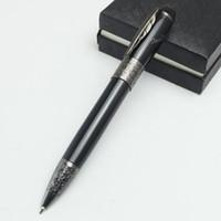 Wholesale best art pens online - Best design Luxury metal mb pen Writers Edition ballpoint pen office school supplies ballpoint pen with maple Clip for writing