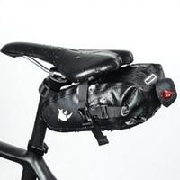 dişli telefonu toptan satış-Tam Su Geçirmez Bisiklet Eyer Çantası Bisiklet Koltuk Dişli Paketi Çantası MTB Yol Bisiklet Telefon Tutucu Onarım Araçları Sürme Ekipmanları