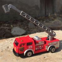 Wholesale alloy replicas - 1:87 Alloy car model replica kids toys Fire truck crane truck Ladder car Children like the gift Decoration Hit
