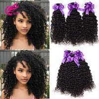 human hair pack Australia - Virgin Hair Brazilian Kinky Curly Wavy Human Hair Unprocessed Extension Natural Color Pack of 3 Bundles Remy Hair Weave for Black Women