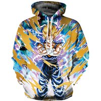 Wholesale anime tracksuit - Dragon Ball Z Hoodies D Printed Sweatshirt Goku Anime Pullover Hooded Womens Mens Unisex Tracksuit Outerwear