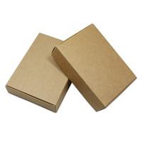 décoration de mariage en carton achat en gros de-30pcs / lot événement en carton bonbons artisanat Pack Box Kraft papier pliant partie cadeaux boîte décoration boîte à bijoux pour les faveurs de mariage