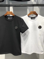 Wholesale canvas brand clothing - P1082 Hip Hop Luxury Designer T Shirt Summer New Short Sleeve O-neck T-Shirt Fashion Skull Print Sportwear Tshirts Brands Men's Tee Clothing