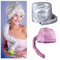 Wholesale voltage hair - Hair Dryer Hood Bonnet Lady Magic Turban Hair Drying Towel Fast Dryer Cap Hat For Bath Towel Hair Care Tool