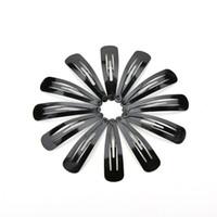pinzas para el cabello negro al por mayor-100 unids / lote hairgrips Barrettes Cabeza horquillas Joyería Pelo Negro Clips de presión accesorios accesorios