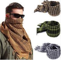 arab scarf venda por atacado-Novo Leve Borla Deserto Árabe Shemagh KeffIyeh Envoltório Lenço Digno Verificados Homens Silenciadores