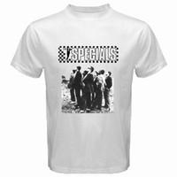 tonos de pantalla al por mayor-Camisetas de serigrafía O-Neck The Specials 2 Tone Ska Band Music Camiseta blanca para hombre Tallas S a 3XL Envío gratuito Hombre Short
