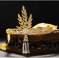 Wholesale vintage bridal headdress - Vintage Baroque Queen King Bride Tiara Crown For Women Headdress Prom Bridal Wedding Tiaras and Crowns Hair Jewelry Accessories