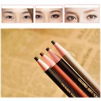 liner cinza venda por atacado-4Pcs Maquiagem Cosméticos Eye Liner Lápis de sobrancelha Brush Tool Light Brown Black Gray
