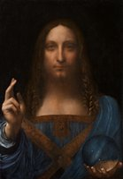 ingrosso olio di gesù-Gesù Cristo dei Savi di Leonardo da Vinci Dipinto a mano con stampa ad olio Stampe ad olio di alta qualità Tela di alta qualità Opzioni di cornice multipla p59