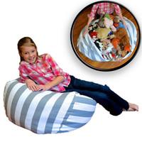 Wholesale Bean Bag Blue - Creative Modern Storage Stuffed Animal Storage Bean Bag Chair Portable Kids Toy Storage Bag Play Mat Clothes Organizer Tool