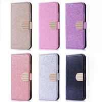 glitter bling wallet großhandel-Luxus diamant glitter bling wallet flip stehen pu ledertasche für iphone x 8 7 6 6 s plus samsung s8 s8 s9 plus j3 j5 j7 2017