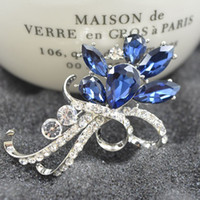 Wholesale Emerald Version - Korean version of the new fashion Ruili crystal diamond brooch brooch high-grade white K small jewelry