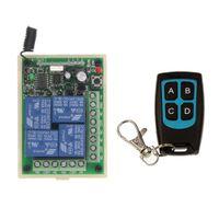 rf kontrol alıcıları toptan satış-DC 12 V 24 V 4 CH 4CH RF Kablosuz Uzaktan Kumanda Anahtarı Sistemi, Su Geçirmez Verici + Alıcı, 315/433 MHz