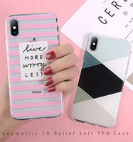 Wholesale phone cases zebra for sale – best For iPhone XR XS Max X Plus Geometric Stitching Marble Zebra Stripes Phone Cases for iPhone s Plus Soft Cover