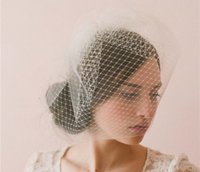 Wholesale blusher veils resale online - Bridal Veil Accessories Blusher Veils Accessories With Comb For Christmas Party Wedding Dresses Hair Wear Ivory Color