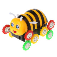 Wholesale best electric car toys resale online - Amazing Cute Electric Cartoon Wheels Bee Degree Tumbling Car Toy Best