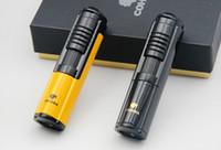 puro kutusu çakmak toptan satış-COHIBA Puro Sigara Çakmak Taşınabilir metal Windproof 1 Torch Düz Jet Alev Çakmak Bütan Gaz Butik hediye kutusu kullanın