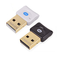 Wholesale Usb Bluetooth Connector - Mini USB Bluetooth V4.0 Dual Mode Wireless Dongle Gold plated connector CSR 4.0 Adapter Audio Transmitter For Win7 8 XP OTH817
