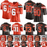 Wholesale browns throwback jerseys - Mens Cleveland 80 Jarvis Landry 6 Baker Mayfield Brown 73 Joe Thomas Jersey 23 Joe Haden 5 Tyrod Taylor 31 Nick Chubb Jerseys