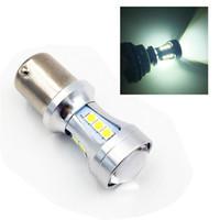 Wholesale 1156 Amber Led - YSY 2pcs 1156 BA15S S25 3030 18smd Canbus Error Free SMD White LED Bulbs S25 P21W Turn lamp Brake Light Red Amber