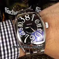 hora loca ver al por mayor-Alta calidad NUEVO reloj para hombre 8880 CH Reloj automático HORAS LOCAS Números Dial 316L SS mano Caja de plata para hombre Reloj deportivo de moda