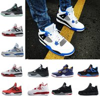 c7b97df2d34 Hot New 4 4s Men Basketball Shoes Motosports Blue Oreo Eminem White Cement  Pure Money Toro Bravo Bred Alternate 89 Sport Sneakers designer