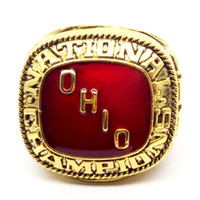 Wholesale best gold rings - Hot selling 1968 ohio state buckeyes national championship ring size 11 best choice for fans gift