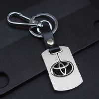 ingrosso chiave autentica di nissan-Portachiavi in metallo con catena chiave portachiavi in argento placcato in vera pelle portachiavi NISSAN