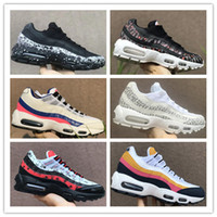 Wholesale coral cushions - High Quality 95 Essential Vintage Coral White Navy Sports Shoes 2018 Men and Women Trainer Sneakerboot Cushion Running Shoes US5.5-US11