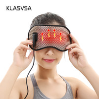 Wholesale massage tourmaline - KLASVSA Electric Heating Tourmaline Eye Massager Far Infrared Negative Anion Eyes Facial Germanium Massage Mask Home Relaxation