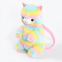Wholesale teddy bear stuffed animals online - Rainbow Alpaca Backpack Kids Plush Bag Toy Soft Stuffed Animal Plush Alpacasso Should Bag Collectible Gifts