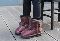 Wholesale girls snow boots winter shoes - 2017 children's shoes winter girls snow boots new children's snow boots real Mao Princess cotton winter boots