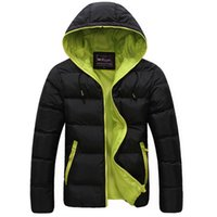 Wholesale mens acrylic winter jacket resale online - Winter Men Jacket New Brand High Quality Candy Color Warmth Mens Jackets And Coats Thick Parka Men Outwear Xxxl