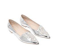 5a7da91511df silver ballet flats shoes Australia - Zapatos Mujer Women 10mm BIBI  Butterfly Wing flats Gold Silver