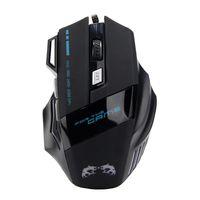 precio del cable led al por mayor-Mejor precio Promoción 3200 ppp LED Óptico 7D USB Juego de juego con cable Ratón Pro Gamer Ordenador Ratones para PC de alta calidad
