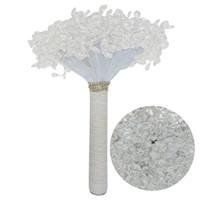 bouquets acryliques achat en gros de-2018 De Luxe Fleurs Artificielles Acrylique Bouquet De Mariée Pour Mariage Brillant Strass Bouquet De Mariage 2018 Mariage Buque De Noiva