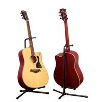 stativ falten großhandel-Universal-Gitarrenständer aus schwarzem Klappstativ für akustische klassische E-Gitarrenständer und Basshalter