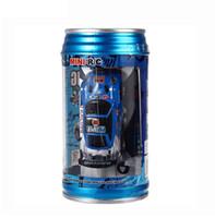 planador de motor rc venda por atacado-Mini Car Coca-Cola Pode RC Car Radio Controle Remoto Corrida Caminhão Micro Blocos de Estrada de Brinquedo Elétrico Kid Brinquedos presentes