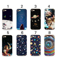 Wholesale iphone 5c tpu cute cases for sale – best 3D Cartoon Outer Space Soft tpu Painted Case for iPhone X XS MAX XR s plus s se c Star Cute Kawaii Phone Shell Cover