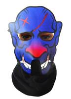 voz de máscara al por mayor-Máscaras de animales 3D Máscara de baile de cara completa de Halloween Máscaras de fiesta de control LED de voz Masquerade Cosplay