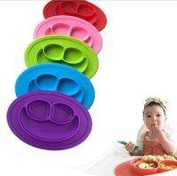 Wholesale Plates Bowls - Baby Silicone Plate Mat Non-slip Mini Children Kids Meal Fruits Tray Placemat Table Plate Tray Kitchen Tools KKA5108