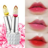 волшебный цвет оптовых-Цветок помады мода магия температуры изменение цвета увлажняющий крем полные губы бальзам губных прозрачный цветок желе детские губы помады макияж